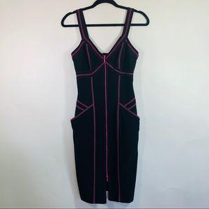 Joseph Ribkoff Midi Bodycon Zip Dress